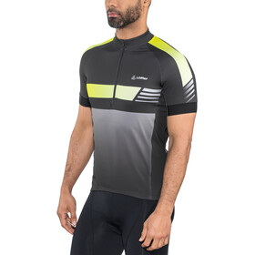 Löffler Hotbond Reflective Bike Jersey Half-Zip Men black/lemon